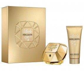 Paco Rabanne Lady Million Geschenkset EdP 80 ml + Body Lotion 100 ml